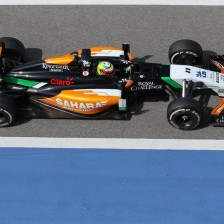 Sergio Perez tops day 1