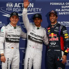 Hamilton claims first pole