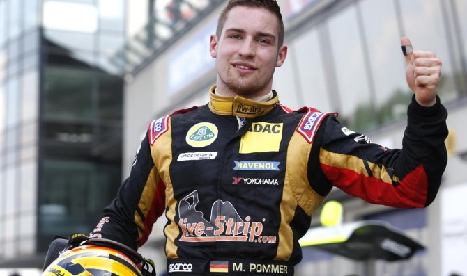Pommer claims first pole position
