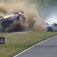 Triumph for Audi after a huge crash
