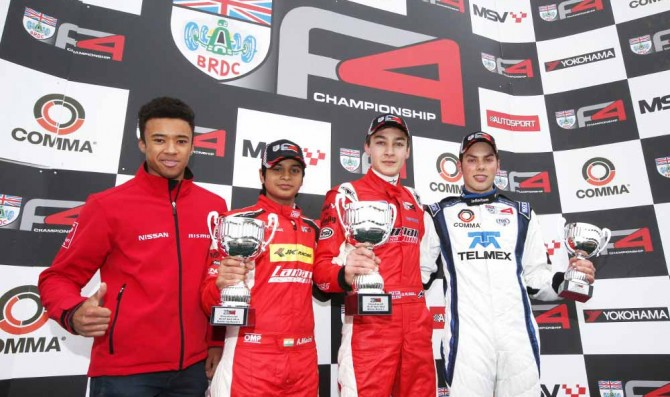 Russell takes double win at Silverstone