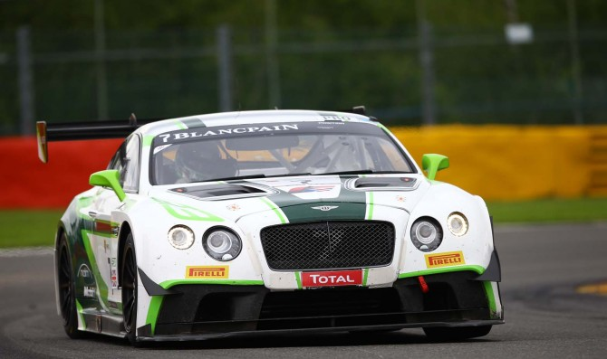 Bentley fastest at 24H Spa official test