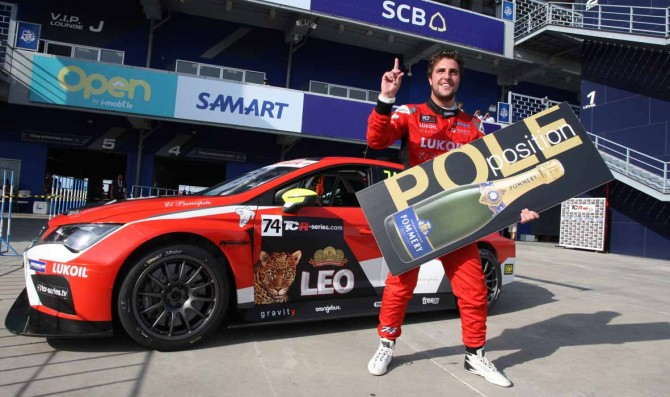 Pepe Oriola claims his first pole