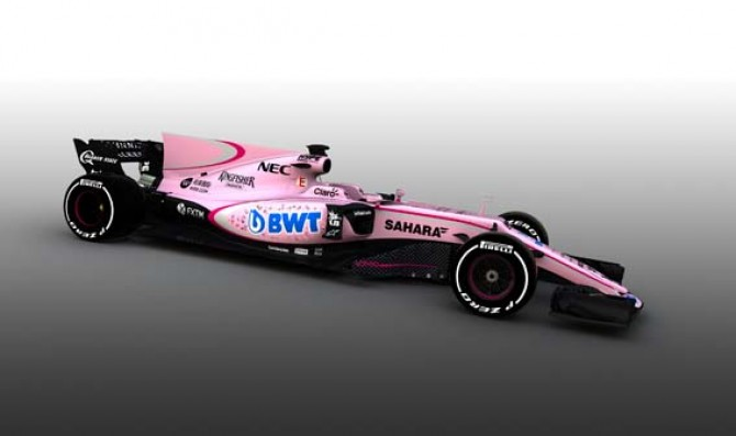 Sahara Force India reveals the pink VJM10 car