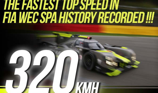 New WEC speed record set at Spa